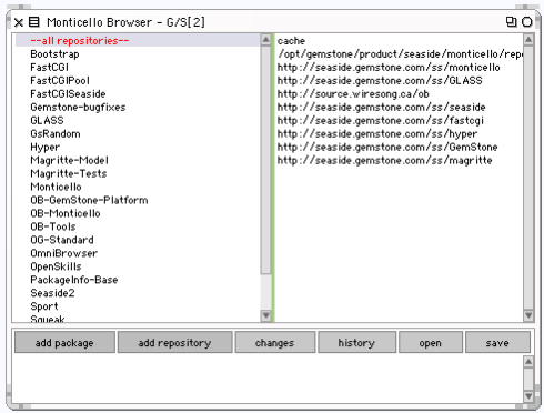 Monticello Package Browser